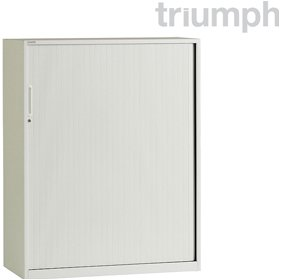 Triumph Metrix Desk High Side Opening Tambour Cupboards £252 - Office Desks