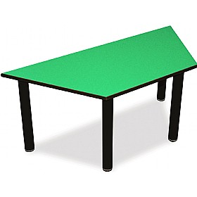 Scholar Heavy Duty Trapezoidal Cylinder Legged Tables With Black Frame £0 - Education Furniture