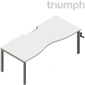 Triumph Metrix Bench Height Adjustable Double Wave Desk £581 - Office Desks