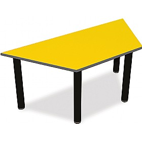 Scholar Super Heavy Duty Trapezoidal Cylinder Legged Tables With Black Frame £0 - Education Furniture
