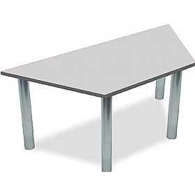 Scholar Super Heavy Duty Trapezoidal Cylinder Legged Tables With Silver Frame £0 - Education Furniture