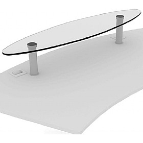 Elite Callisto Glass Desk Shelf £357 - Office Desks