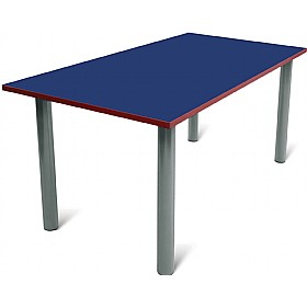 Scholar Heavy Duty Rectangular Cylinder Legged Tables With Light Grey Frame £0 - Education Furniture
