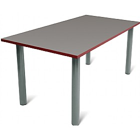 Scholar Super Heavy Duty Rectangular Cylinder Legged Tables With Light Grey Frame £0 - Education Furniture