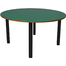 Scholar Heavy Duty Circular Cylinder Legged Tables With Black Frame £0 -