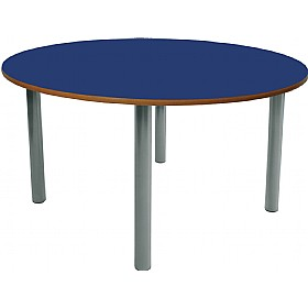 Scholar Heavy Duty Circular Cylinder Legged Tables With Light Grey Frame £0 - Education Furniture