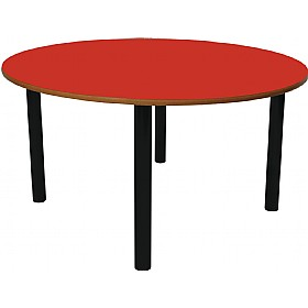 Scholar Super Heavy Duty Circular Cylinder Legged Tables With Black Frame £0 - Education Furniture