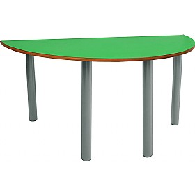 Scholar Heavy Duty Semi-Circular Cylinder Legged Tables With Light Grey Frame £0 - Education Furniture