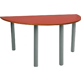 Scholar Super Heavy Duty Semi-Circular Cylinder Legged Tables With Light Grey Frame £0 - Education Furniture