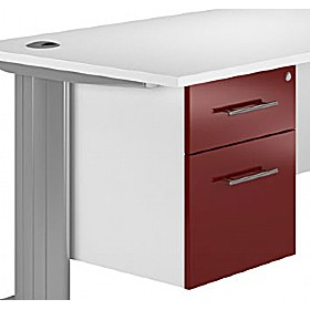 Reflections Burgundy Fixed Pedestals £119 - Office Storage