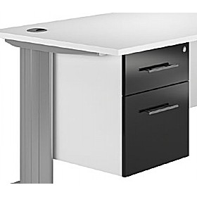Reflections Black Fixed Pedestals £119 - Office Storage