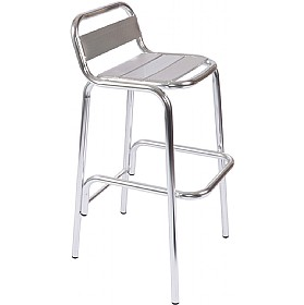 Aluminium Bistro Tall Stool £42 - Bistro Furniture