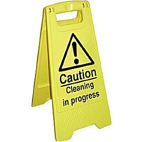 Caution Cleaning In Progress Floor Sign £10 - Premises Management