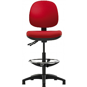 Pledge Topaz Medium Back Draughtsman Chair £188 - Office Chairs