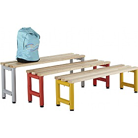 Freestanding Education Cloakroom Benches With Active Coat £0 - Education Furniture