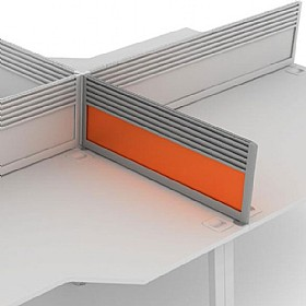 Elite Linnea Acrylic System Return Screens With Management Rail £0 - Office Screens