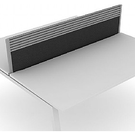 Elite Linnea System Desktop Screens With Management Rail £0 - Office Screens