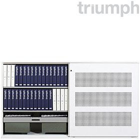 Triumph SuperGlider Perforated Sliding Door Cupboards £886 - Office Desks