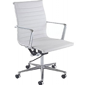 Blaze White Executive Chair £290 - Office Chairs