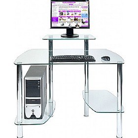 Glacier Glass Computer Desk £120 - Computer Desks
