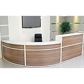 Presence Two Tone Modular Reception Modular Reception Desks