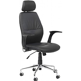 Monty Leather Effect Managers Chair £128 - Office Chairs
