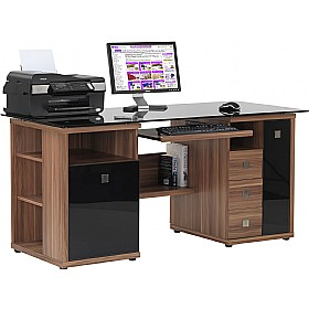 Savannah Computer Desk Walnut £337 - Computer Desks