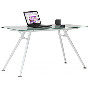 Lunar Glass Computer Desk £156 - Computer Desks
