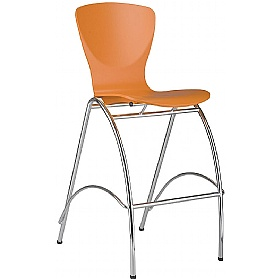 Bingo Hocker Tall Wooden Bistro Chair (Pack of 4) £134 - Bistro Furniture