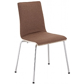 Latte B Plus Upholstered Wooden Cafe Chair (Pack of 4) £77 - Bistro Furniture