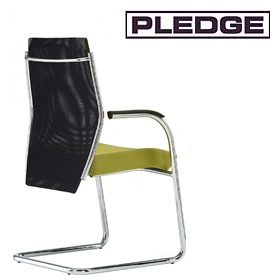 Pledge Plan Mesh Medium Back Cantilever Visitor Chair £323 - Office Chairs