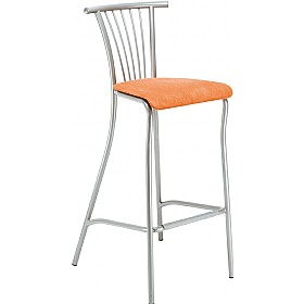 Baleno Hocker Tall Fabric Bar Stool (Pack of 4) £93 - Bistro Furniture