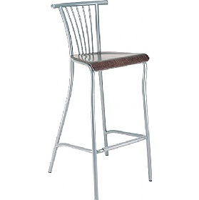 Baleno Hocker Tall Wooden Bar Stool (Pack of 4) £86 - Bistro Furniture