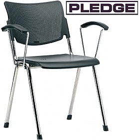 Pledge Mia Polypropylene 4 Leg Conference Armchair £100 - Office Chairs