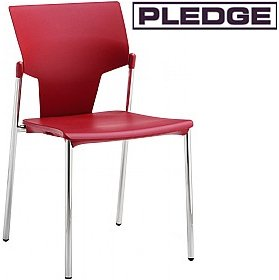 Pledge Ikon Polypropylene 4 Leg Conference Chair £91 - Office Chairs