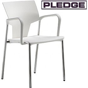 Pledge Ikon Polypropylene 4 Leg Conference Armchair £108 - Office Chairs