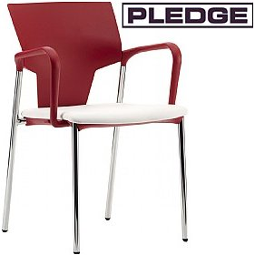 Pledge Ikon 4 Leg Conference Armchair £118 - Office Chairs