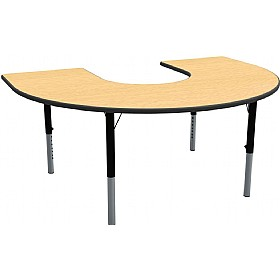 Height Adjustable Horseshoe Theme Table £237 - Education Furniture