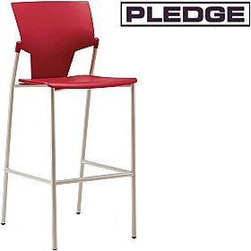 Pledge Ikon Polypropylene 4 Leg Stool £123 - Bistro Furniture