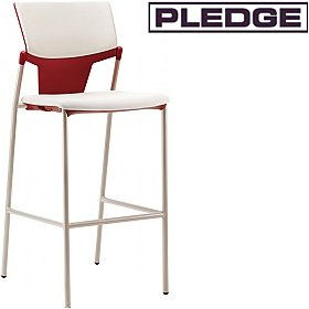 Pledge Ikon Upholstered 4 Leg Stool £152 - Bistro Furniture