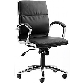 Formosa Medium Back Enviro Leather Chair Black £189 - Office Chairs