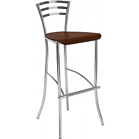 Molino Hocker Tall Wooden Bar Stools (Pack of 4) £88 - Bistro Furniture