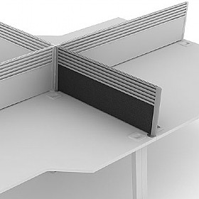 Elite Linnea System Return Screens With Management Rail £0 - Office Screens