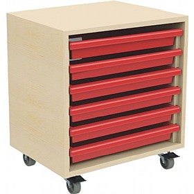 6 Tray Mobile Art & Paper Storage Unit £106 - Education Furniture