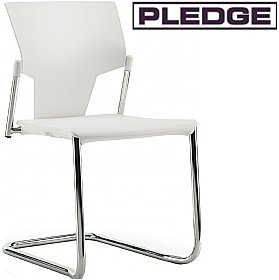 Pledge Ikon Polypropylene Cantilever Conference Chair £106 - Office Chairs