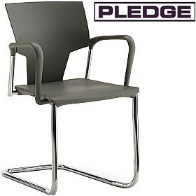 Pledge Ikon Polypropylene Cantilever Conference Armchair £129 - Office Chairs