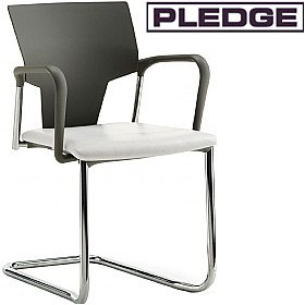 Pledge Ikon Cantilever Conference Armchair £135 - Office Chairs