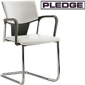 Pledge Ikon Upholstered Cantilever Conference Armchair £154 - Office Chairs
