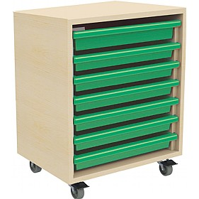 7 Tray Mobile Art & Paper Storage Unit £0 - Education Furniture