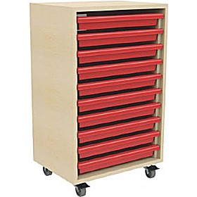 10 Tray Mobile Art & Paper Storage Unit £191 - Education Furniture